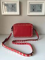 arrival flaps - 2016 new arrival fashion genuine original leather real Handbags should bag calfskin Flap rivet style