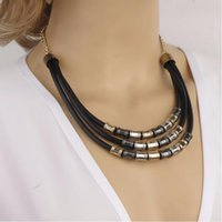 Wholesale Statement Necklace Chokers New Fashion Women Vintage Brief Personality Multilayer Clavicle Chain Jewelry Drop Shipping SN815