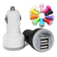 aa iphone charger - Colorful Dual USB Port Car Charger Cigarette A Auto Power Adapter for iphone ipad Samsung AA