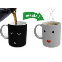 Ceramic battery life meter - Magic Color Changing Cup Smiling Face Morning Ceramic Coffee Mug Heat Cold Temperature Sensitive Battery Meter Tea Milk Cup Fancy Life