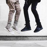 justin boots - yezzy justin bieber Black Green Grey khaki side zipper harem pants men jogger mens jumpsuit club wear chinos fear of god