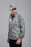 Wholesale Fall Sun Protection Men s Ultra thin Breathable Waterproof Jackets ACU Camo