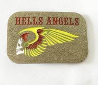 angels skulls - Hells Angels Colorful Skull Biker MC Motorcycle Belt Buckle