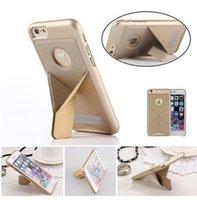 Luxe Transformer Slim Pliage cas de couverture arrière pour iPhone 6 6 plus Samsung Galaxy S6 Support Fonction magnétique étui en cuir PU Transformateur
