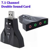 Wholesale 2 in D External Channel USB D Sound Card Audio Laptop PC for Macbook Adapter Double Sound Card airplane