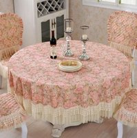 Wholesale Round Classic Delicate Filigree Jacquard Tablecloth For Wedding Event Party