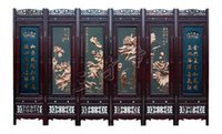 bamboo room screens - Chinese Ancient Culture Wall Art Chinese Precious Mahogany Six Screens Merlin Bamboo And Chrysanthemum Landscapes And Other Patterns