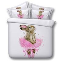 ballerina comforter set - Children Ballerina Bunny Hd d Bedding Set
