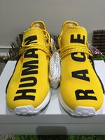 arrival human - Drop Shopping Original Quality As Real Shoes NMD HUMAN RACE Pharrell Williams X NMD Shoes man New Arrivals Sneakers DHL