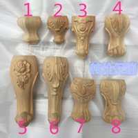 Wholesale Solid wood European style furniture foot table foot cabinet foot sofa foot bed desk chair foot rose leg Dongyang wood carving