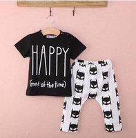 batman pieces - Children Cartton suit New Newborn Baby Boys Outfits Top T shirt Batman Pants Clothes Set