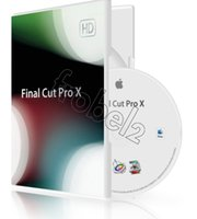 apple color software - Factory Full cracked Apple Final Cut Pro X English language for MAC software Plastic color box packagingg