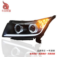 automatic headlamps - A8 LED Piaodai Cruze headlight optical double light xenon headlight assembly automatic light xenon headlamps