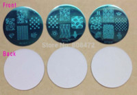 Wholesale 2014 NEW Nail Art template Spring Set Nice designs Dia5 cm Small Round New Fashion Designs