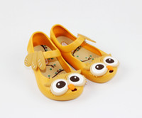 Wholesale 2016 Cute Candy Colorful Owl Head Jelly Sandals Children Shoes Fashion Black Owl Head Kids Summer Clogs Shoes