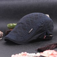 Wholesale Autumn And Winter Cotton Peaked cap Men Women Hat Retro forward cap Man outdoor tourism hats