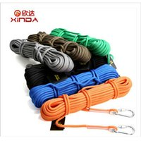 Wholesale 10M Outdoor Climbing Ropes Professional Rock Climbing Cord Hiking Accessories Rope mm KN High Strength Cord Safety Rope