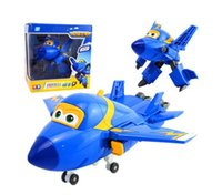 Wholesale 8 Styles cm ABS Super Wings Deformation Airplane Robot Transformation Action Figures Toys for Children
