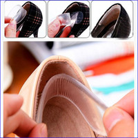 Wholesale Silicone Gel Heel Liner Foot Care Shoe Pads transparent slip resistant Protector invisible Cushion Insole