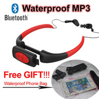 Wholesale Bluetooth Waterproof MP3 Player GB GB Underwater Sports Headphones for Swimming Diving Surfing IPX8 Headests Stereo Audio Earphone