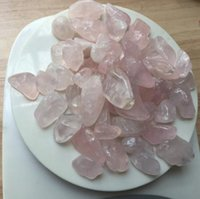 Wholesale 50pcs a Natural Clear and High Quality Rose Crystal Tumbled Stone Rock Rose Quartz Crystals Products for Sale