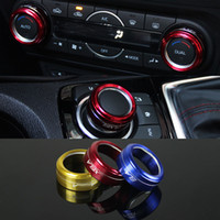 Wholesale 2016 New Car Styling Aluminum SET Air Conditioning Heat Control Switch knob AC Knob Case For Mazda Axela HXY0151