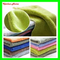 absorbent rags - Soft Bamboo Fiber Absorbent Washing Dish Bowl Cloth Towel Durable Useful Mixed color Kitchen Cleaning Rag Car Wash Towel