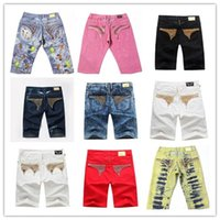 robin jeans - 2016 Famous brand tide mens fashion jeans summer robin short jeans pants rock revival religion jeans for man designer perfume robin jeans