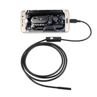 Wholesale original waterproof HD mm lens Inspection Pipe m Endoscope Mini USB Camera Snake Tube with LEDs Borescope For Android PC