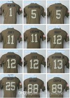 Wholesale 2015 New Men s Dez Bryant Peyton Manning Green Salute To Service Limited camo Jersey size S M L XL XXL XL
