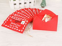 Wholesale 12 cm Creative Small folding greeting cards Non Woven Christmas Envelope Christmas Cards Candy Bag Christmas Tree Ornament