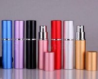 Wholesale Perfume Bottle ml Aluminium Anodized Compact Perfume Aftershave Atomiser Atomizer Fragrance Glass scent bottle