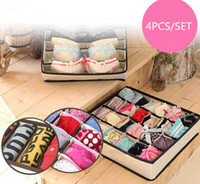 Wholesale Foldable Drawer Dividers Storage Boxes Closet Organizers Under Bed Organizer Drawer Dividers Closet Organizers For Bra Underwear Storage