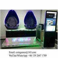 arcade simulator - Amusement Equipment Virtual Reality Two Seats D VR Simulator Egg Cinema Movie Arcade Game Machine