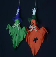 bat houses - Halloween ghost doll Creepy Prop Decor Scary Halloween Party House nightclub bar Decoration Props Easter bat Ghosts festive supplies