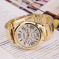 alloy steel scrap - 3 dial Steel Alloy Scrap Dress Watches for Women colors Ladies Watches Fashion Watch Christmas Birthday Gift