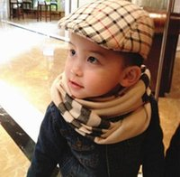 beret hat pattern - Fashion Baby Boy Kids Beret Ball Cap Casual Hats Cotton Blend Classic Plaid Pattern Cool Hat PX177