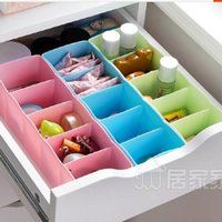 Wholesale Home Bras Underwear Socks Underwear Drawer Plastic Storage Box Finishing Box Five Grid Storage Box Small Drawer Storage Box