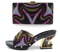 bag italy - PU leather grossy High quality use for any occasion in summer Shoes and bag matching set designed by Italy