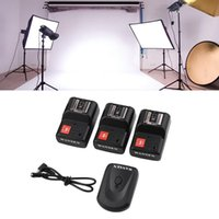Wholesale PT GY Channels Wireless Remote Studio Speedlite Flash Light Trigger for Canon for Nikon Camera Phote Kit
