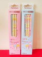 Wholesale Cute Kawaii Kids Girl Boys Aihao HB Standard Pencils Office School Supplies Stationery