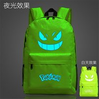 Wholesale 2016 poke mon bags glowing backpacks fashion street cool school bag unisex travel bag bistar top brand bag printing backpack