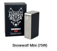 Wholesale MOQ Snowwolf Mini W TC Box Mod Electronic Cigarette Sigelei Mini Snow Wolf Blue Black Colors W Mods vs iStick Pico Vapor