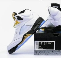 b coins - Retro Olympic Top qualiy Men size RELEASE Gold Coin White basketball shoes retro s sneaker