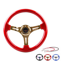 Wholesale 2016 MM CLASSIC CAR STEERING WHEEL BLACK ABS NEO CHROME SPOKES BLUE ABS SILVER SPOKES RED ABS GOLD SPOKES