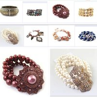 Wholesale 10pcs Super beautiful Ocean series conch shells hippocampus starfish anchor chain bracelet for female gift