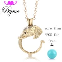 Wholesale Angel Bola Elephant Shape mm Cage Necklaces Pendants Pryme Copper Ball with Long Chain Jewelry for Mom Angel Wing L060