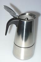 automatic espresso coffee - High quality Stovetop coffee maker moka pot Espresso latte coffee pot stainless steel moka coffee machine