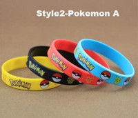 Wholesale Silicone Bracelets toys Style Children Poke Ball Sylveon Pikachu Charmander Bulbasaur Outdoors Sport AAAA Quality Free size Bracelets