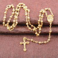 black jesus - Fashion Women s K Gold Rosary Necklaces Zinc Alloy Virgin Mary And Jesus Cross Pendants Necklace quot women Jewelry